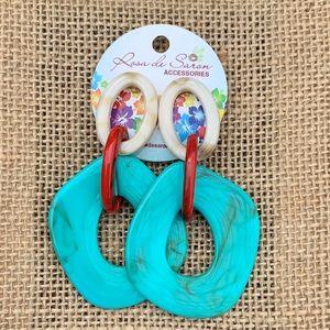Turquoise resin Earrings